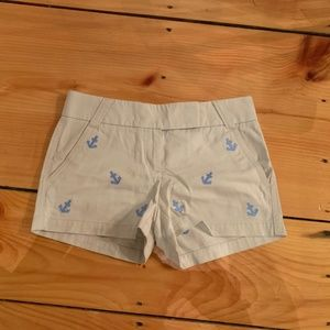 "J Crew Factory Anchor Embroidered 3"" Shorts"
